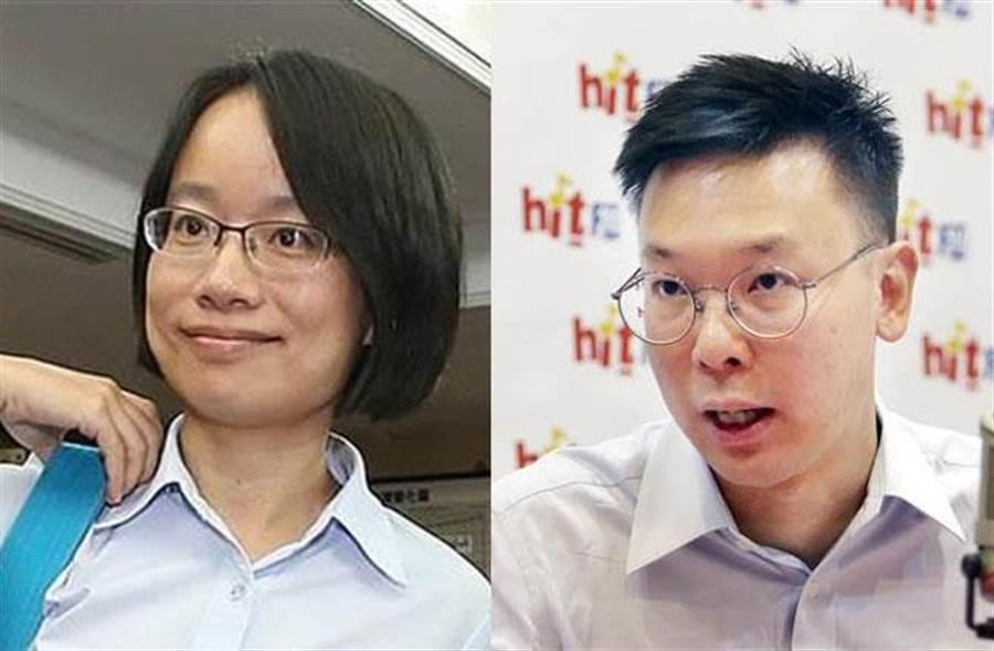 張善政:林飛帆(右)擔任民進黨副秘書長,和吳音寧(左)一樣狀況。(圖/合成照片)