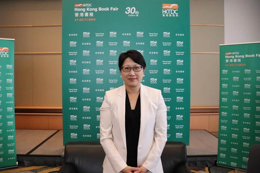 香港貿發局助理總裁張淑芬19日接受媒體群訪。(記者呂佳蓉/攝)