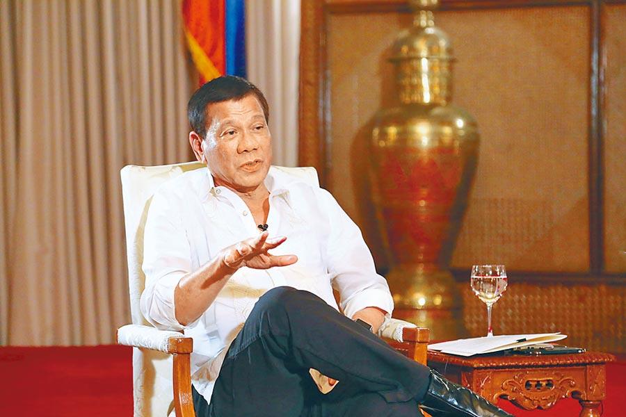 菲律賓總統杜特蒂。(中新社資料照片)