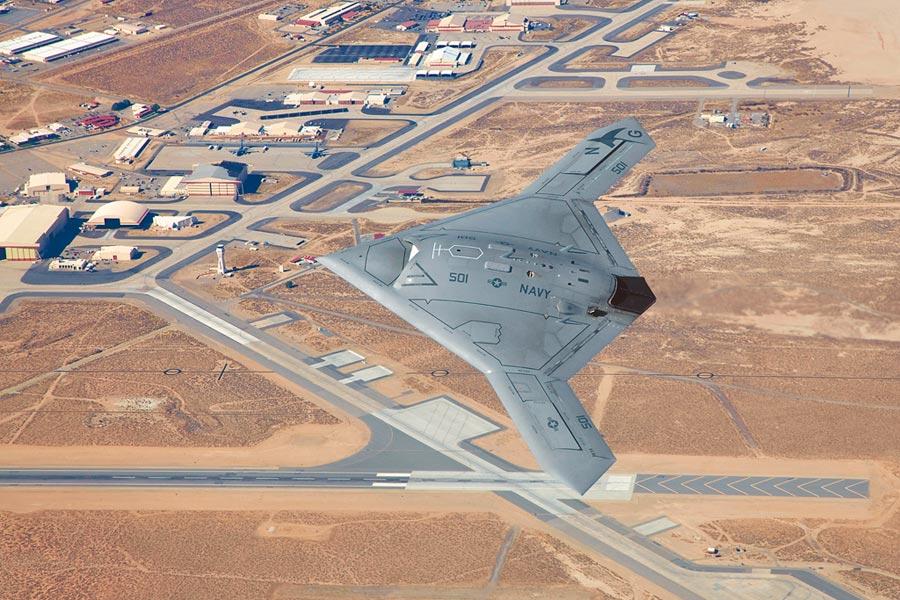 美軍X-47B無人機。(取自美國空軍網站)
