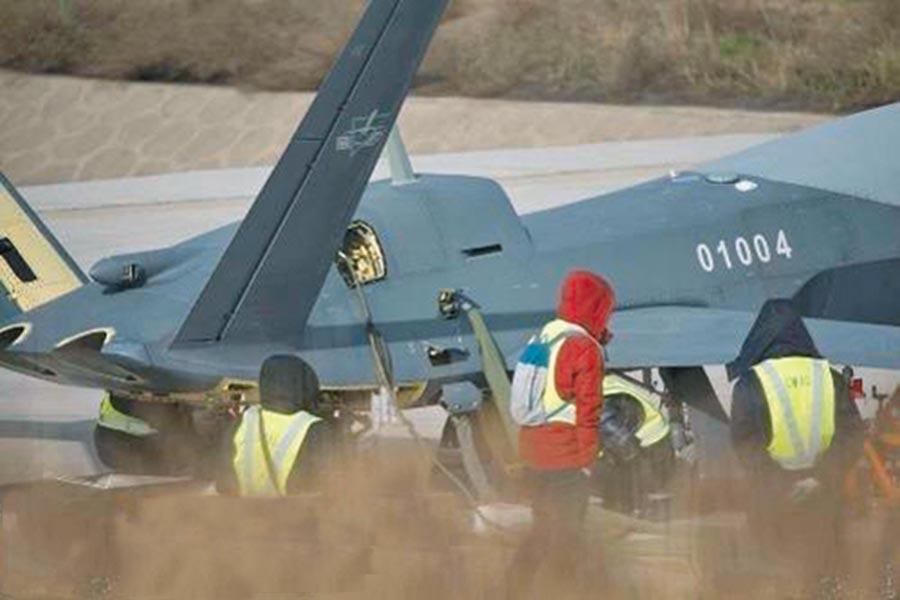 大陸網上流傳一張疑似「風影」無人機的照片。(取自環球軍事)