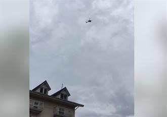 直升機盤旋2分鐘 林佳新:韓國瑜是敵國嗎?