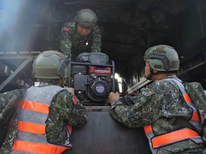 國軍協助地方政府完成災防整備作業。(軍方提供)