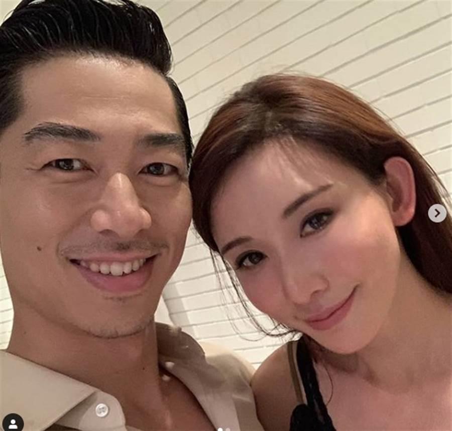 林志玲與老公甜蜜合照。(取自林志玲ig)