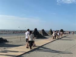 大安沙雕音樂季落幕 18座沙雕將自然風化