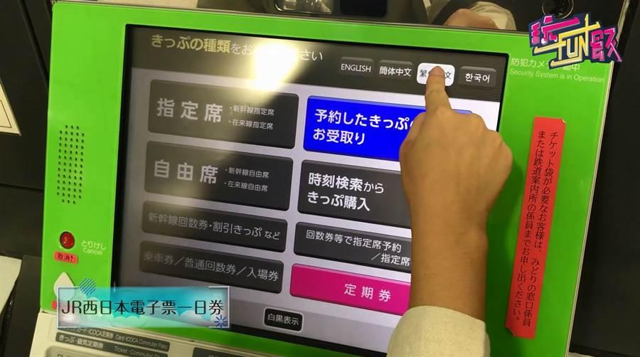 透過E-TICKET,按照簡易步驟購買「JR西日電子票一日券」