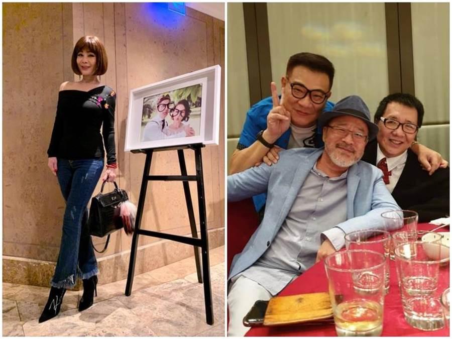 陳美鳳(左圖)優雅裝扮參加婚宴。