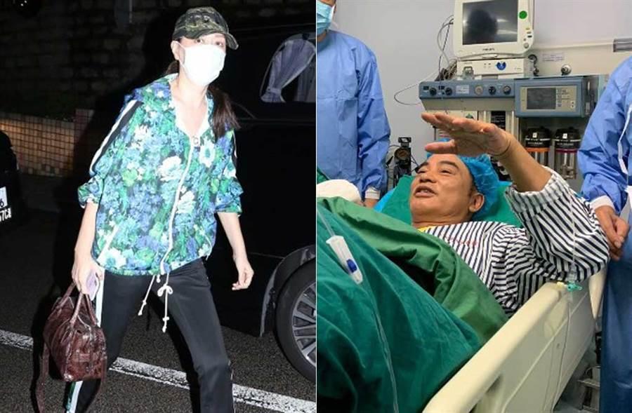 琦琦一早又急奔醫院,證實老公任達華正在動第二次手術。(取材自東網on.cc)