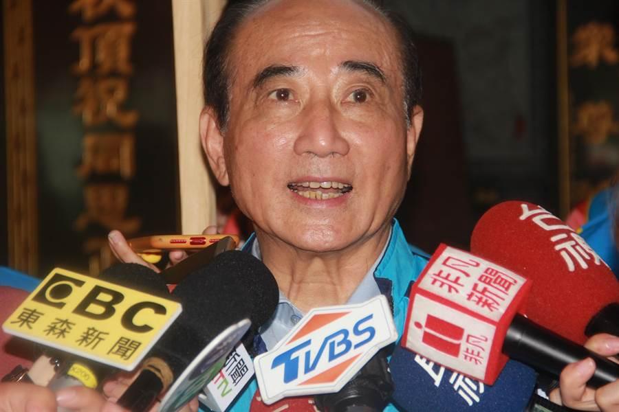 王金平今日出席「基隆金平之友」成立大會。(李依璇攝)