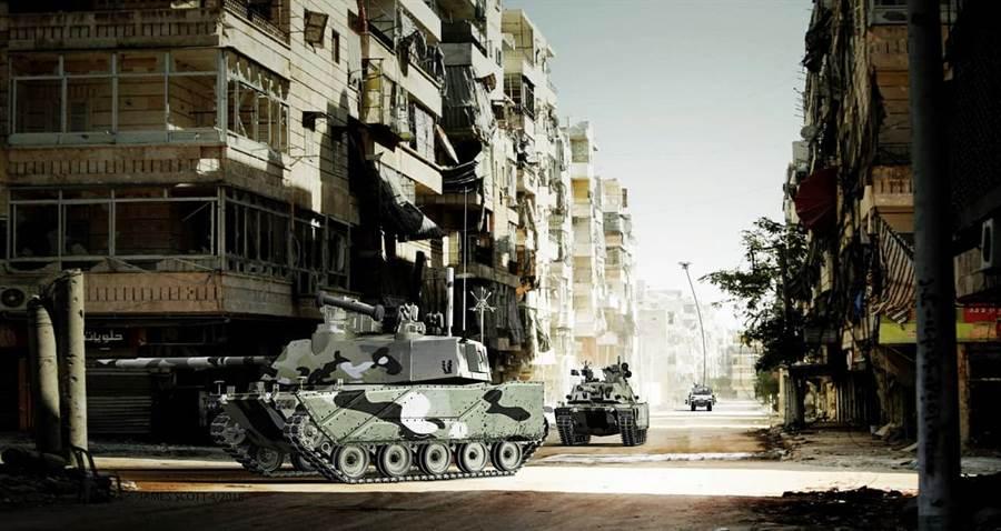 美國陸軍預測的未來無人戰車,在城市戰中可擔任先鋒軍,減低人員損失。(圖/美國陸軍)