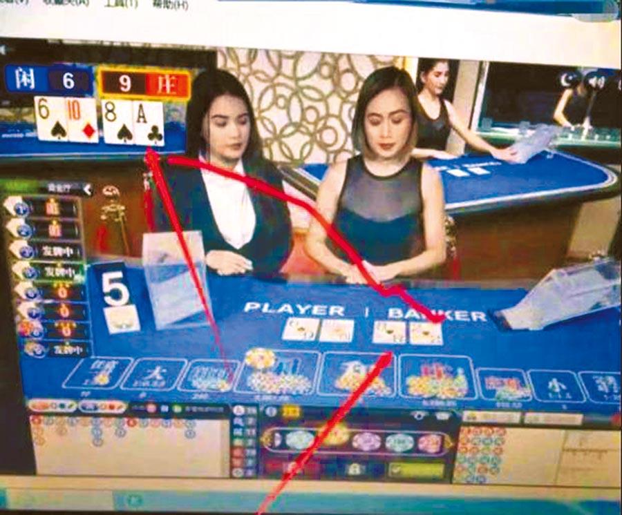 警方指出,賭場程式都是騙徒自建,能控制開大開小,但贏的錢永遠拿不回來。(陳鴻偉翻攝)