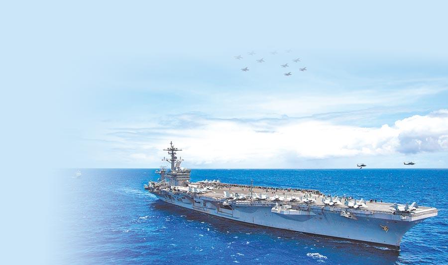 美國核動力航母卡爾文森號。(取自美國海軍官網)