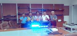 台南新化重要道路車禍頻傳 企業捐自家LED燈提醒民眾