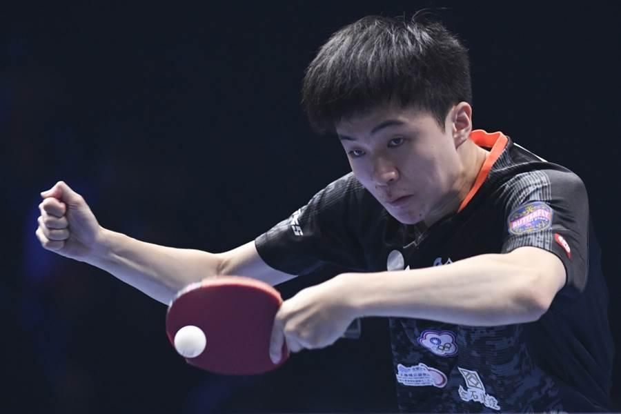 台灣桌球神童林昀儒在捷克公開賽拿下個人在成人賽事第一座國際桌總世界巡迴賽單站單打冠軍。(新華社資料照)