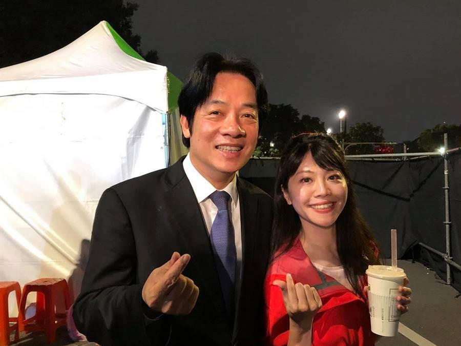 民進黨台北市議員高嘉瑜(右)。翻攝高嘉瑜臉書