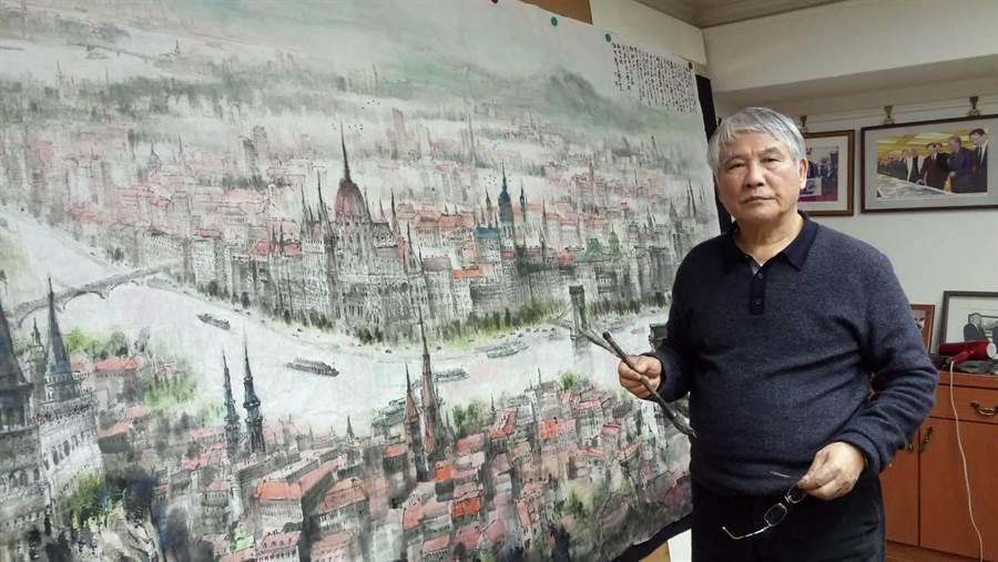 江明賢創作「布達佩斯」巨作。