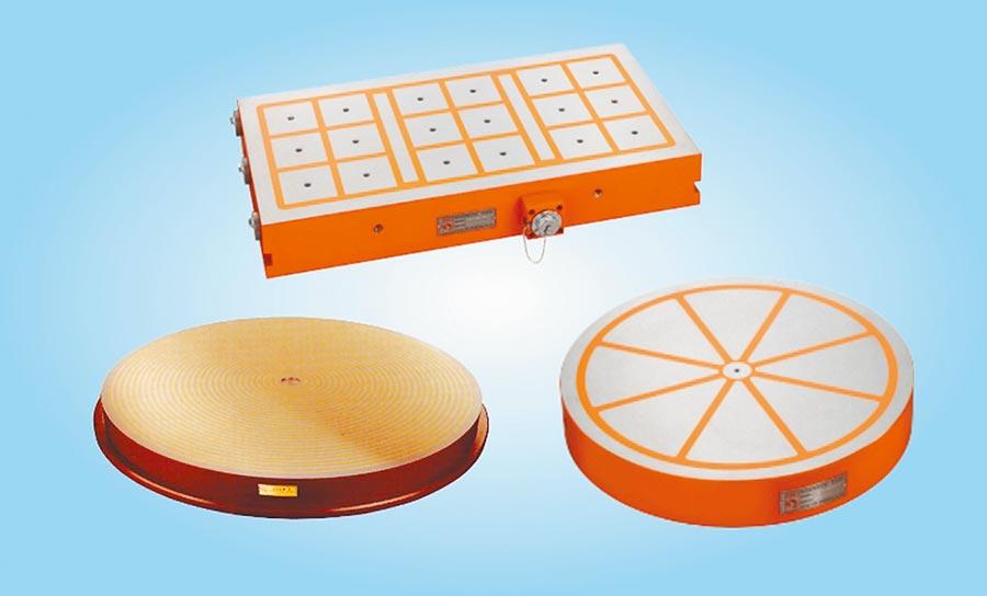 威力磁電磁盤精品化設計,可依客戶量身訂製。圖/陳至雄