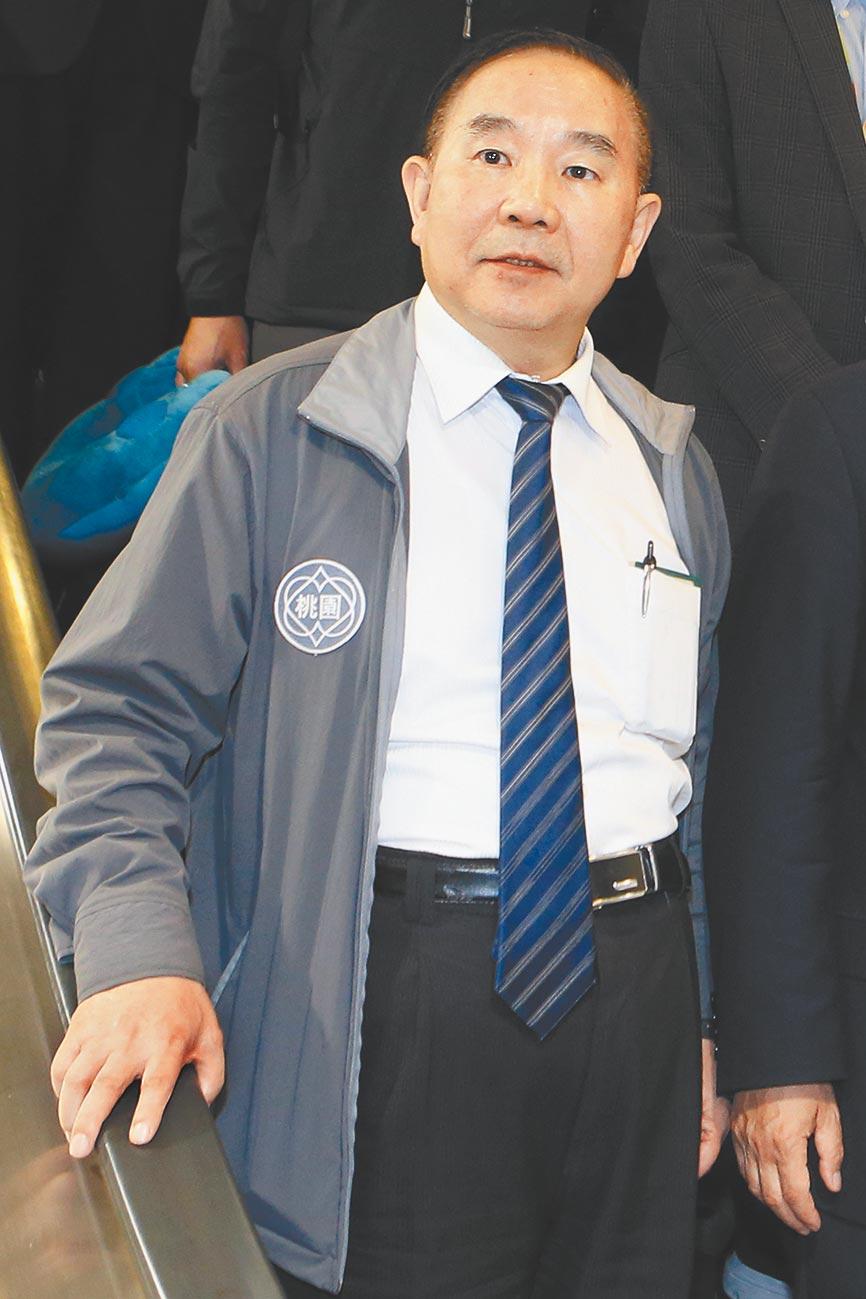 桃園國際機場公司董事長王明德。(陳麒全攝)