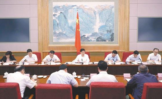 7月12日,大陸公安部長趙克志在北京主持召開專題會議,部署防範打擊整治跨境網路賭博活動。(取自公安部)