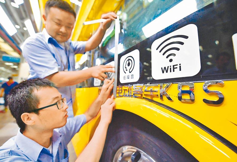 比亞迪業績相較同業突出。圖為西安比亞迪純電動客車基地。(新華社資料照片)