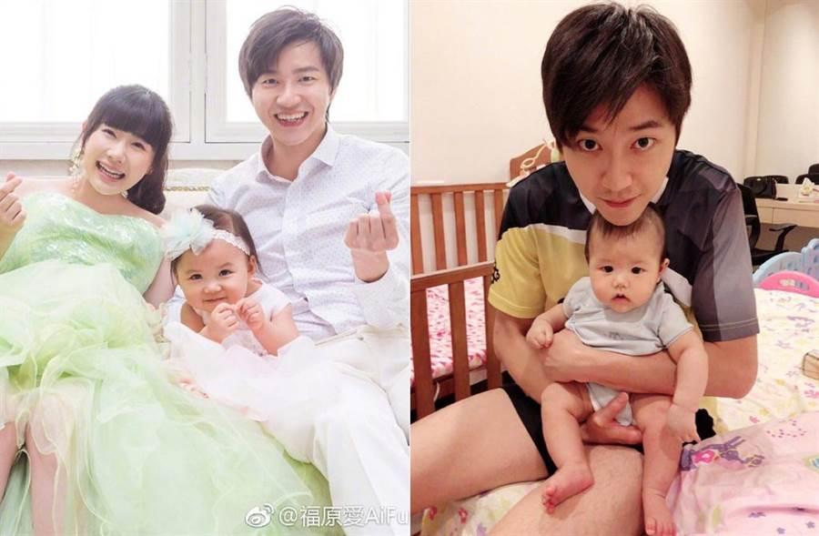 福原愛曝光兒子正面照,認證Kou君真的很像爸爸。(取材自福原愛微博)