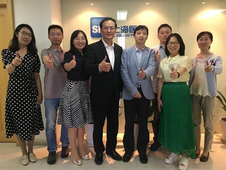 懷特與上海醫藥集團積極洽談合作。(圖/公司提供)