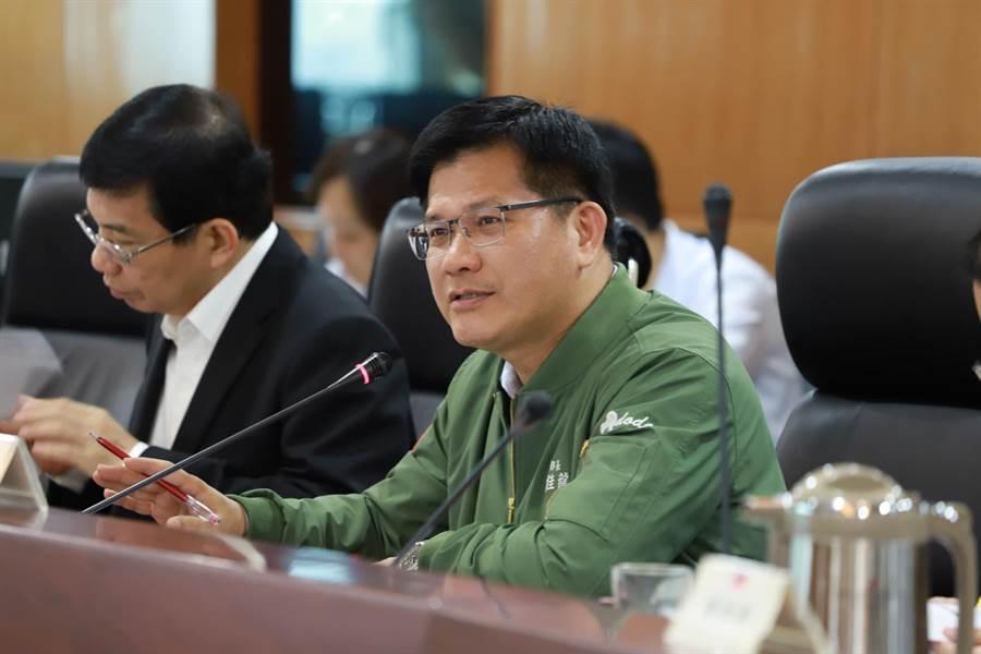 圖為交通部長林佳龍。(郭建志攝)
