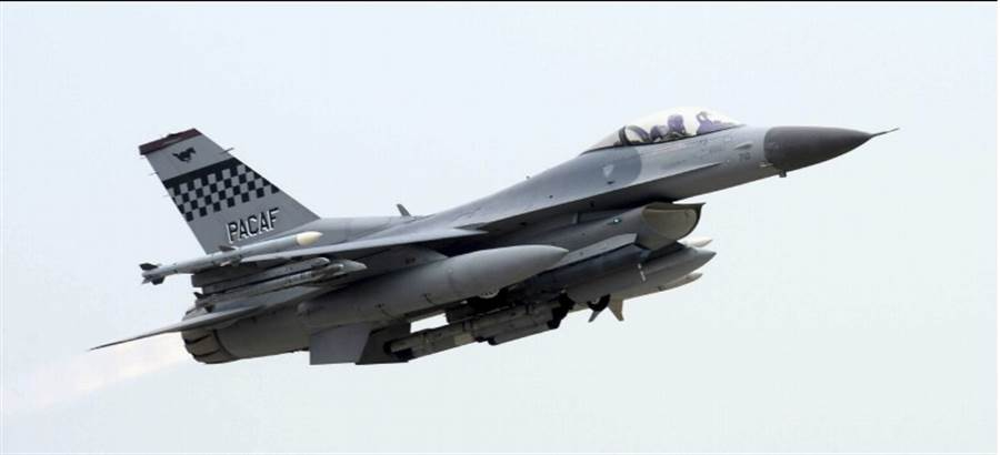 韓國KF-16戰機的資料照。(美聯社)