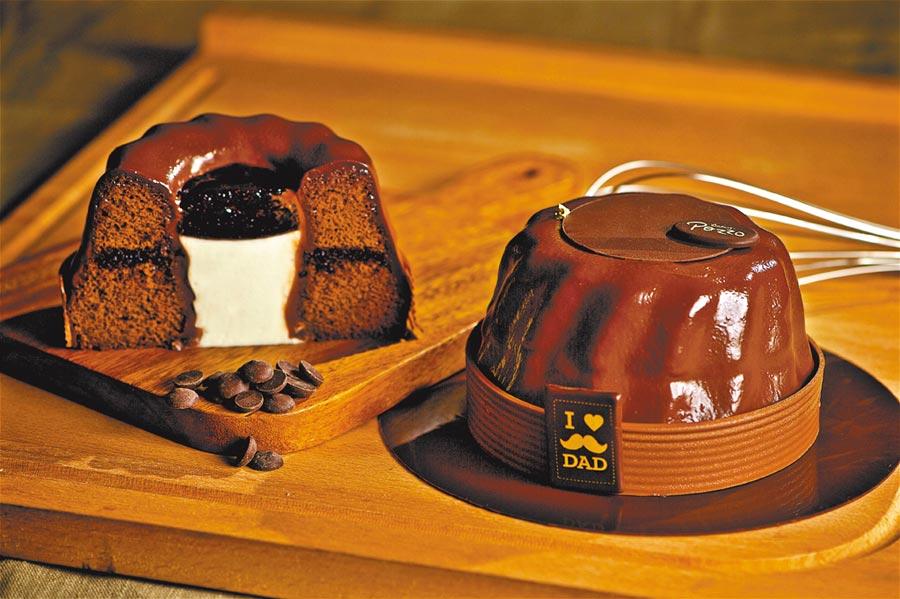 外型似帽的巧克力蛋糕,送給爸爸最適合不過。(神旺大飯店提供)