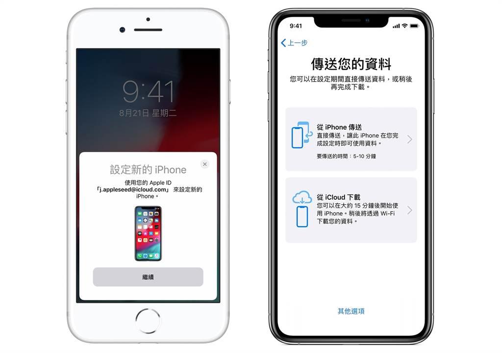 透過 iOS 12.4,蘋果加入全新 iPhone 移轉功能 。(圖/翻攝蘋果官網)