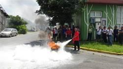 中市環保局宣導消防安全 避免資源回收場火災