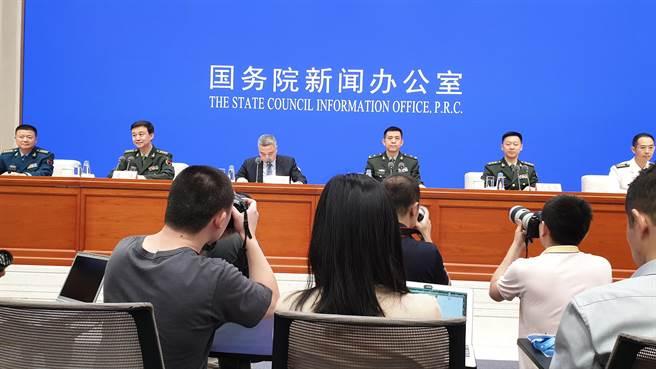 陸國防部發表《新時代的中國國防》白皮書。(藍孝威攝)