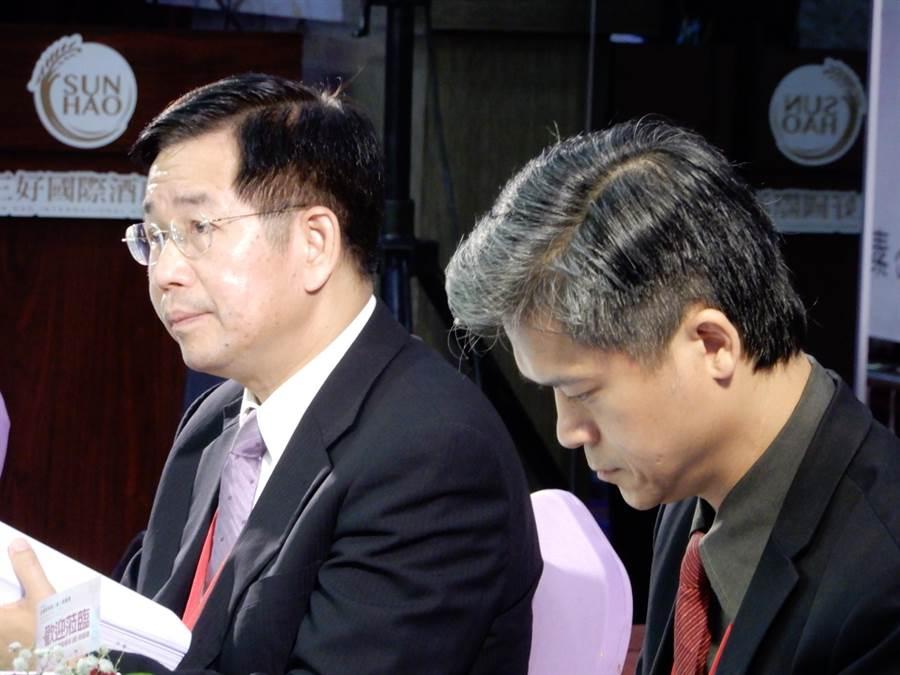 全國教育局處長會議今天舉行,由教育部長潘文忠(左)主持。(林志成攝)