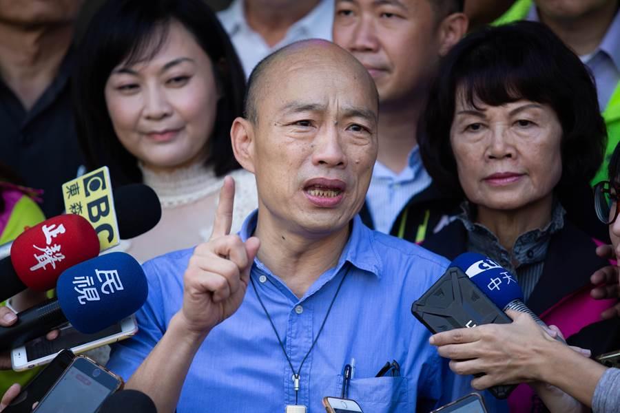 韓國瑜痛批「蘇貞昌越來越不像蘇貞昌!」,說話越來越酸、刻意針對高雄。(袁庭堯攝)