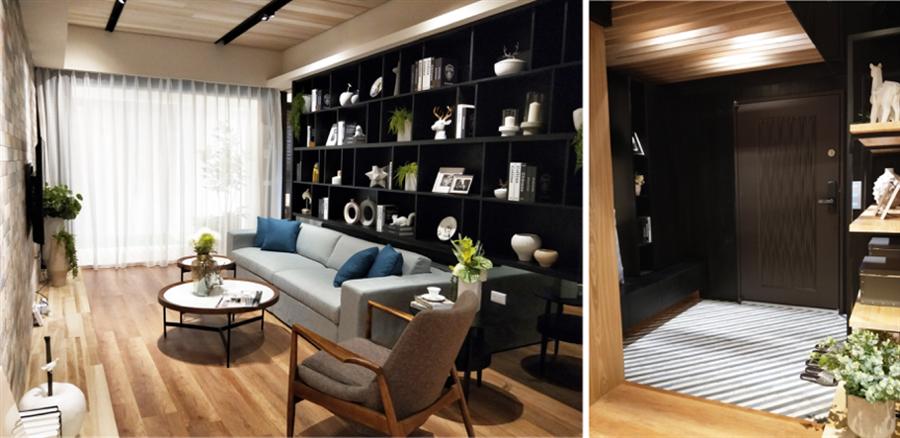 「竹月館」房型有2房及2+1房,坪數區間落在26~34坪,前後雙陽台,室內規劃格局佳,另外2+1房有獨立玄關設計,在市場上也相當稀有。