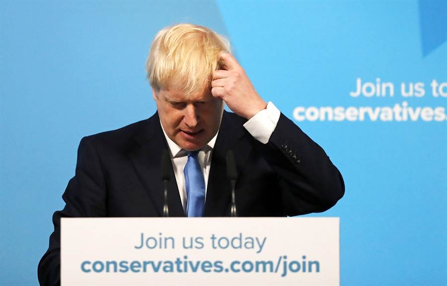 英國首相強生。(圖/美聯社)