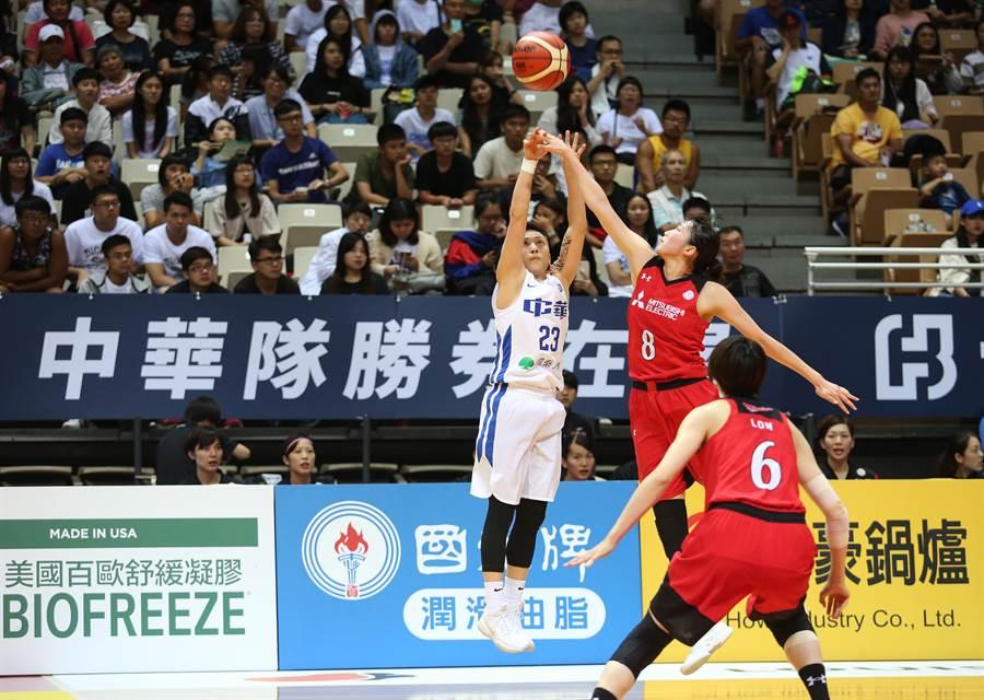 彭詩晴(左)今天攻下23分,可惜無法助隊擊敗日本。(中華籃協提供)