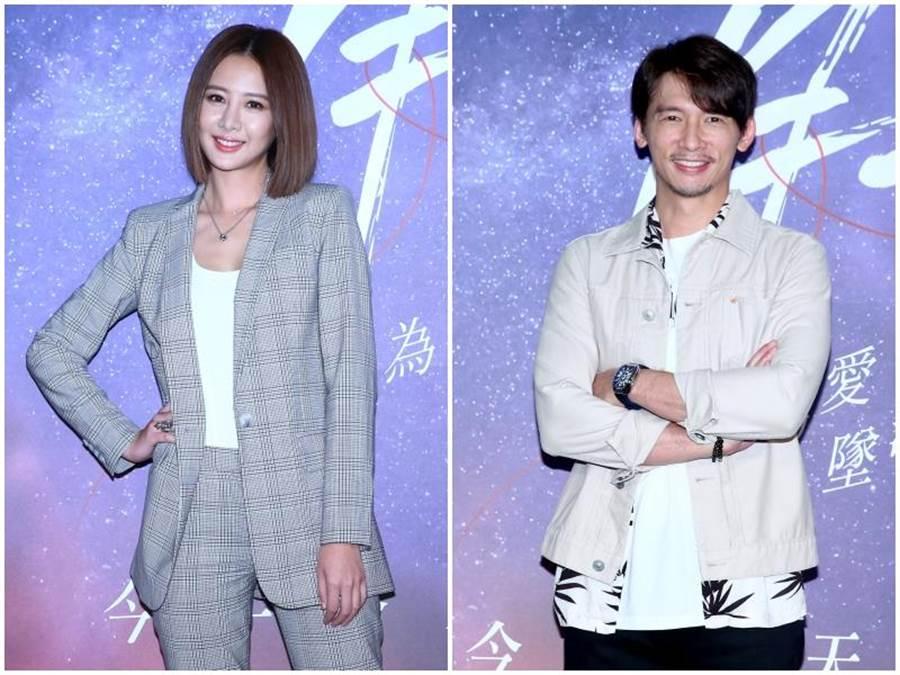 溫昇豪(右)、安心亞。粘耿豪攝