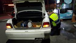 車輛深夜爆胎 民慌張求警救援