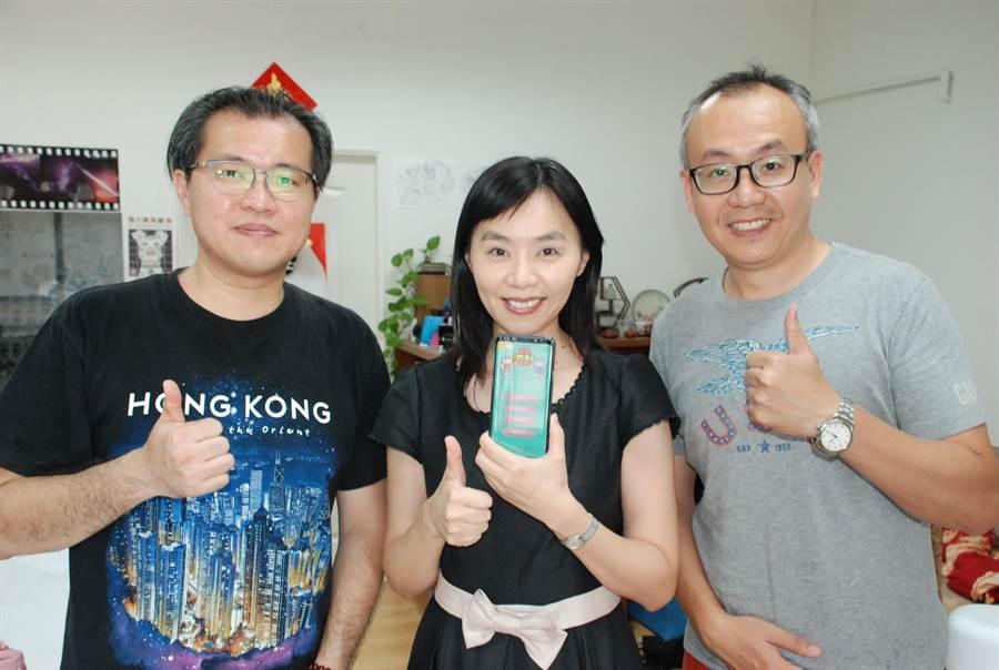 台南應用科技大學會資系與多媒體動畫系跨系合作開發「會計APP」遊戲軟體。(台南應用科大提供)
