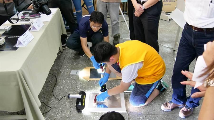 新北市警察局24日至26日在訓練中心舉辦「CSI偵探體驗營」。(葉書宏翻攝)