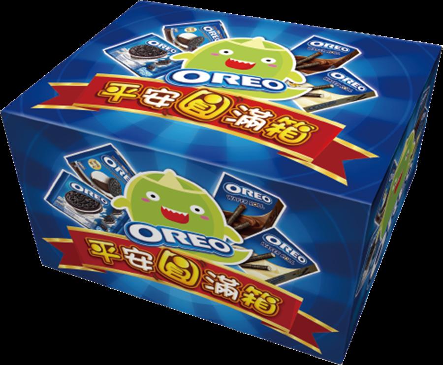 全聯OREO平安圓滿箱637.2g、244元,26日至8月22日特價159元,限量2萬6580盒。(全聯提供)