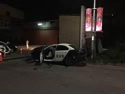 新竹兩警追車撞進工廠 一重傷一輕傷