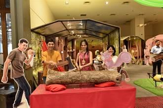 新光三越天母店這夏有木憩 藝起當木頭人