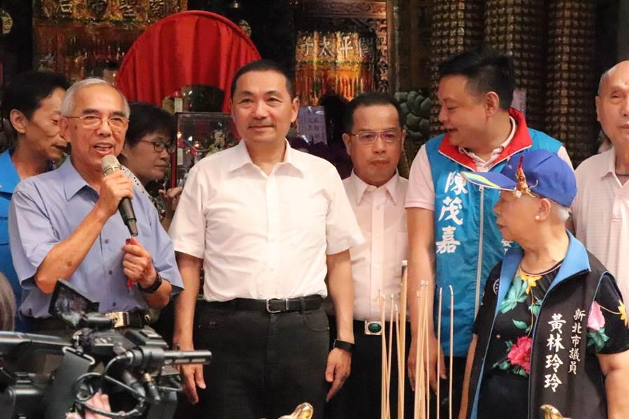 新北市長侯友宜缺席國民黨全代會,遭網友炮轟不知輕重。(吳亮賢攝)