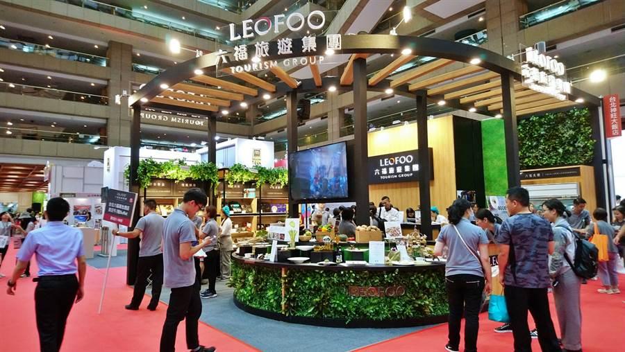 2019台灣美食展26日於世貿一館開展,六福旅遊集團主打運用可溯源產銷履歷食材設計的「大地餐桌」系列限定套餐。(林資傑攝)