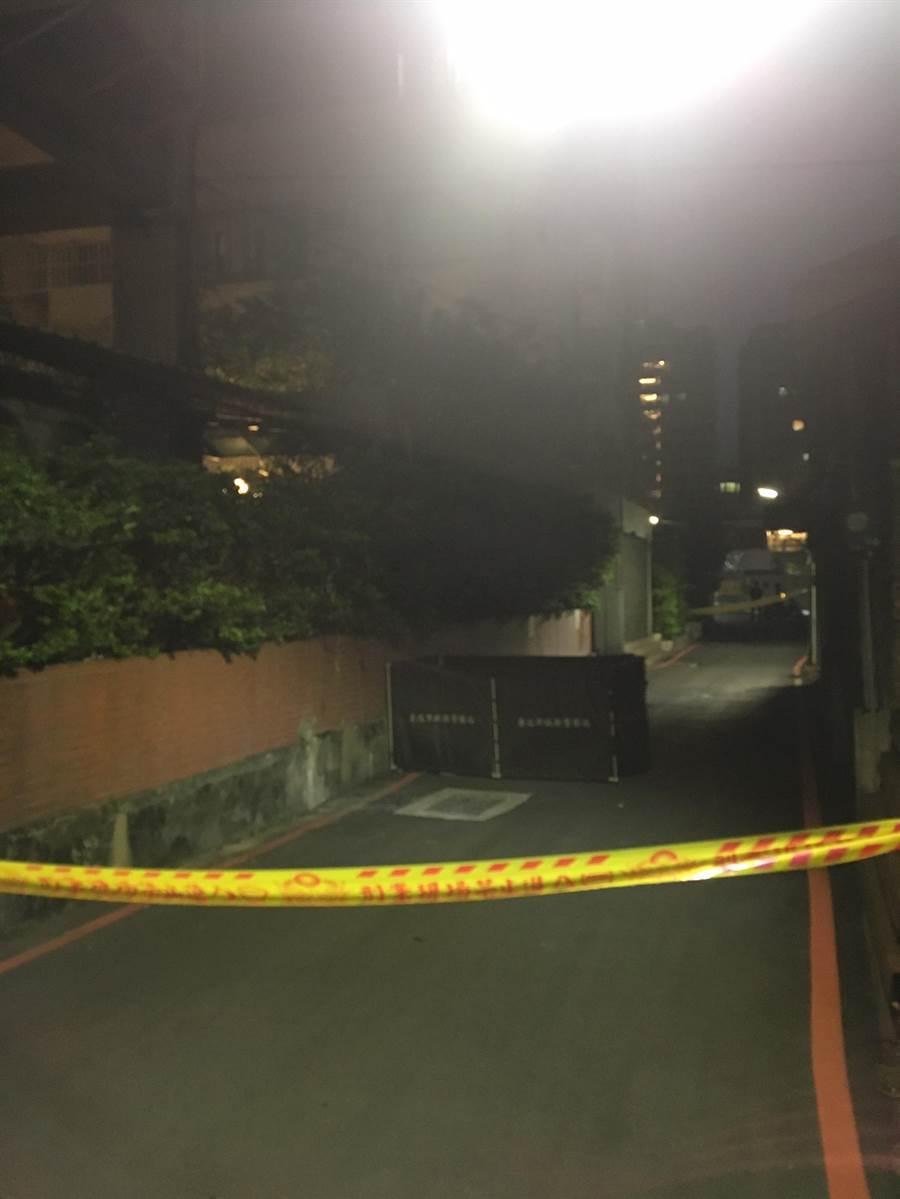 北市民權西路下午發生女子墜樓意外。(陳鴻偉翻攝)