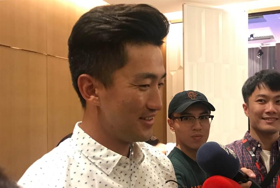 吳昇峰創下首位業餘球員參加中職明星賽的紀錄,最想對決彭政閔。(鄧心瑜攝)