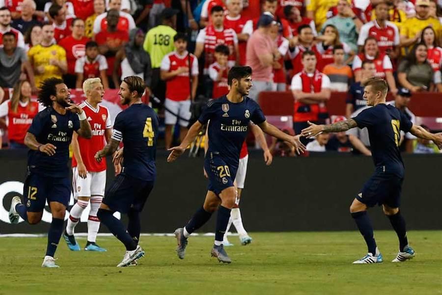 兩支西班牙馬德里球隊上演德比戰。(達志影像)