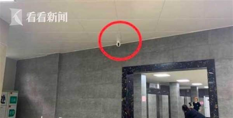 女淋浴間裝了監視器。(翻攝自看看新聞)